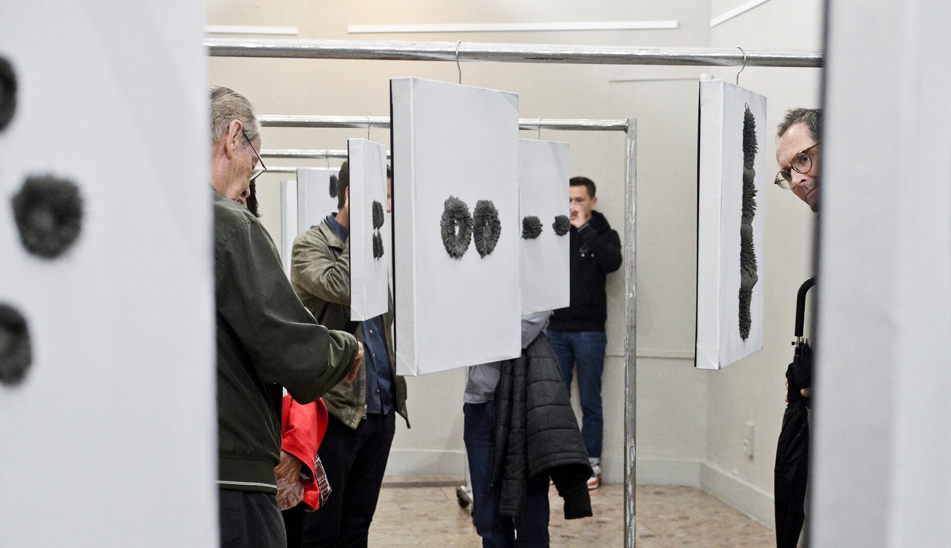 Andy Zorino - SAMSARA exhibition visitors